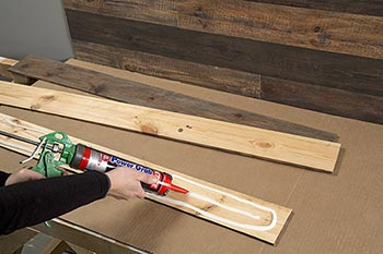 Graphic - proper construction adhesive application