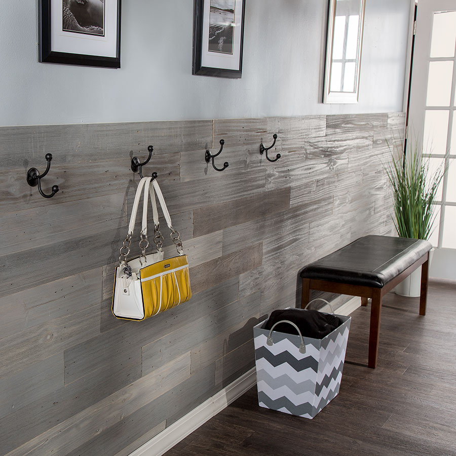 Rustic Grove planks in Mixed Gray-Dark