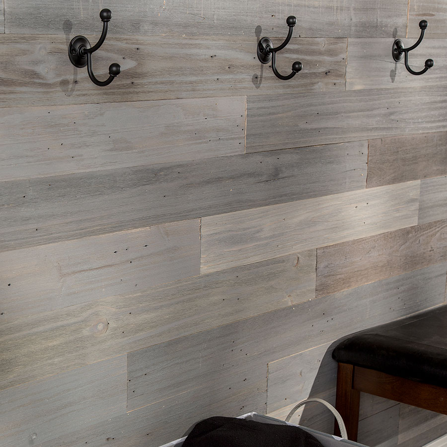 Rustic Grove Mixed Gray-Dark wall planks