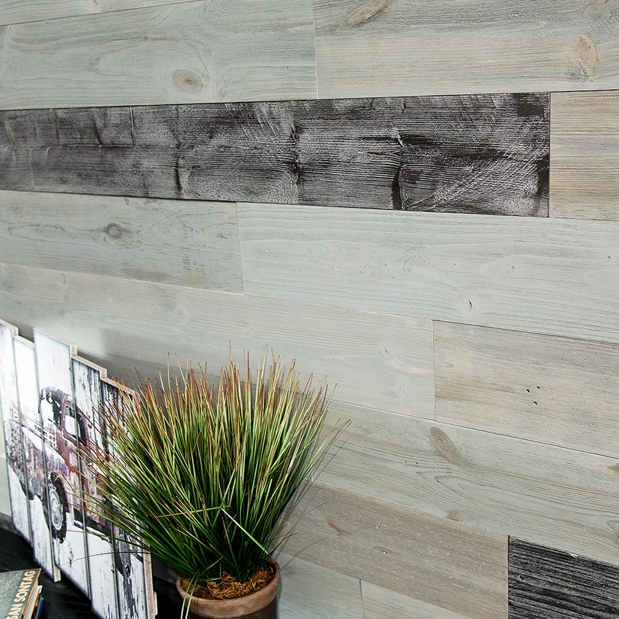 Rustic Grove Mixed Gray-Dark planks
